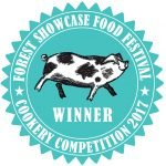 Forest Showcase Food Festival cookery competition winner 2017 rosette